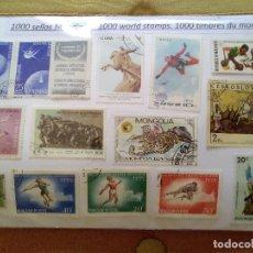 Sellos: $5-LOTE 1000 SELLOS DIFERENTES MUNDIALES,UNIVERSALES,SIN TENER EN CUENTA EL VALOR DE LOS SELLOS. Lote 183279888