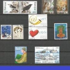 Sellos: ISLAS FEROE 1995-2008 CONJUNTO DE SELLOS MATASELLADOS VALOR CAT. 37,50 EUROS. Lote 124317879