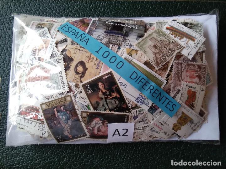 A2-GRAN LOTE 1000 SELLOS ESPAÑA DIFERENTES SIN TASAR,CON SELLOS EN EURO. IMAGEN REAL.CON UNOS POC (Sellos - Colecciones y Lotes de Conjunto)