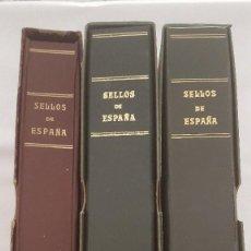 Sellos: EXCELENTE COLECCION DE SELLOS DE ESPAÑA DESDE 1962 HASTA 1992 EN 3 ALBUMES DE PUIGFERRAT Y OLEGARIO. Lote 127910619