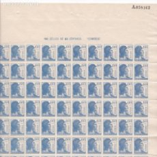Sellos: HP7-1-MATRONA REPÚBLICA 60 CTS HOJA COMPLETA DE 100 SELLOS ** SIN FIJASELLOS. Lote 128257443
