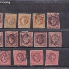 Briefmarken - YY17-Clásicos Edifil 48/52/58 y 64 x 14 Sellos Matasellos TORTOSA Tarragona - 130057995
