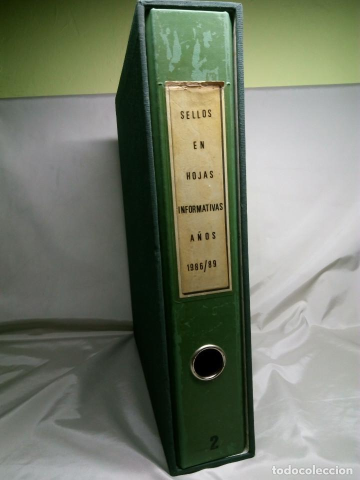 COLECCIÓN DE 108 HOJAS INFORMATIVAS CON SELLOS ESPECIALES DE CORREOS (1986-1989) (Sellos - Colecciones y Lotes de Conjunto)
