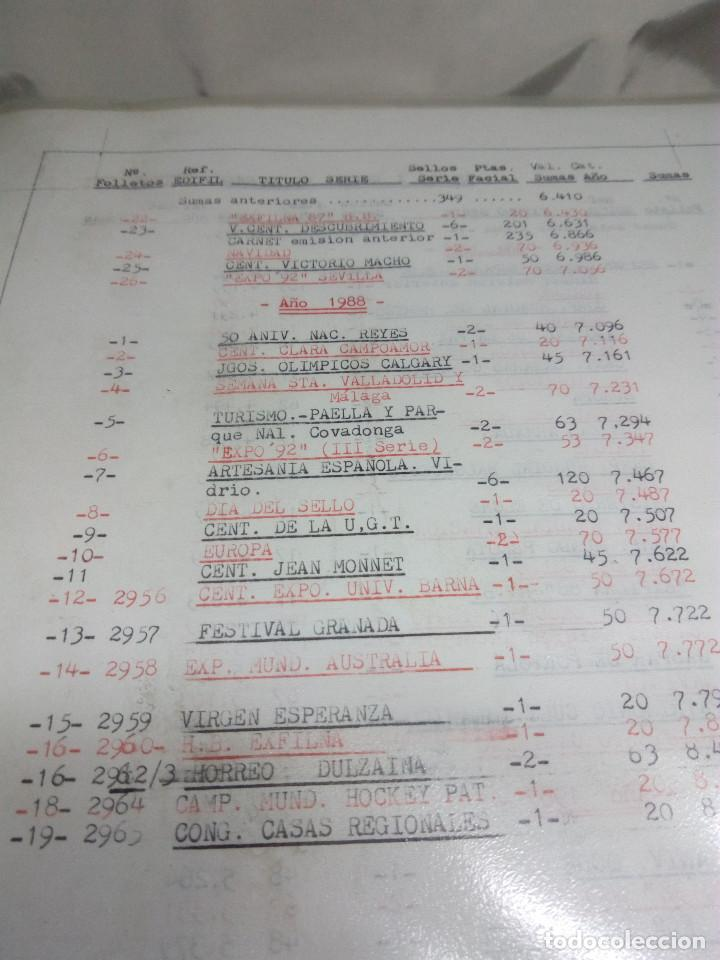 Sellos: COLECCIÓN DE 108 HOJAS INFORMATIVAS CON SELLOS ESPECIALES DE CORREOS (1986-1989) - Foto 2 - 130571654