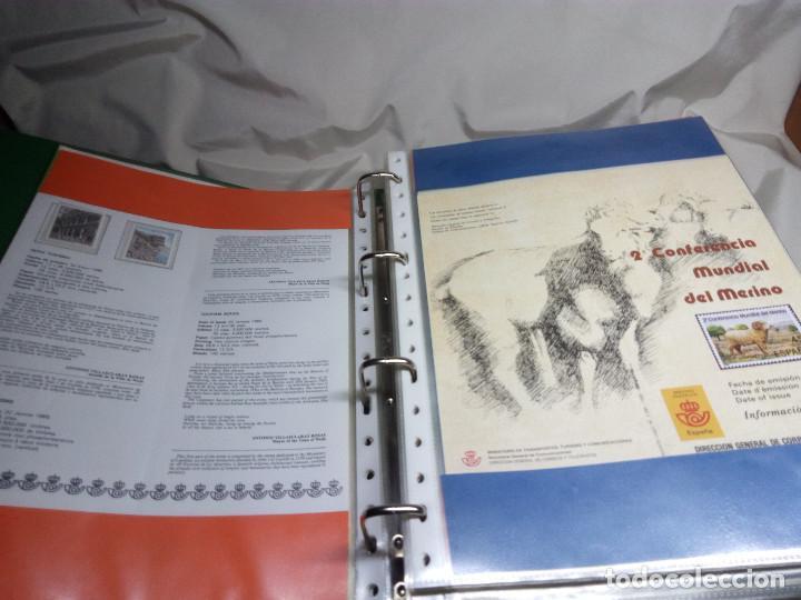 Sellos: COLECCIÓN DE 108 HOJAS INFORMATIVAS CON SELLOS ESPECIALES DE CORREOS (1986-1989) - Foto 7 - 130571654
