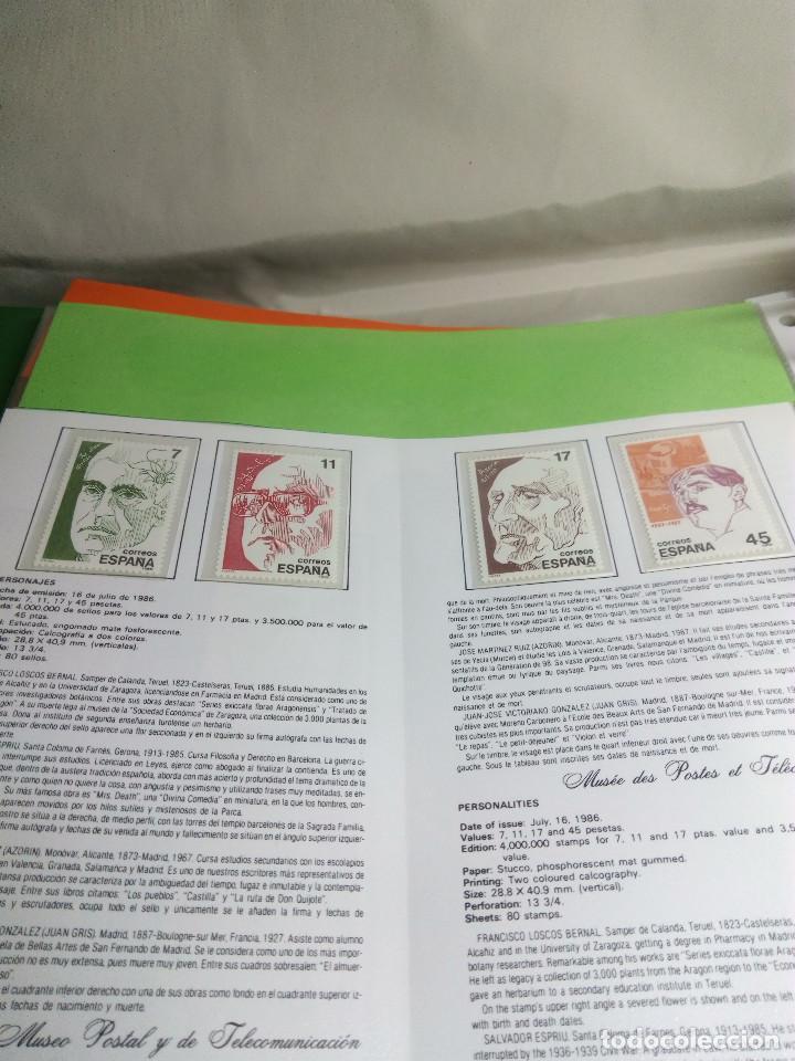 Sellos: COLECCIÓN DE 108 HOJAS INFORMATIVAS CON SELLOS ESPECIALES DE CORREOS (1986-1989) - Foto 10 - 130571654