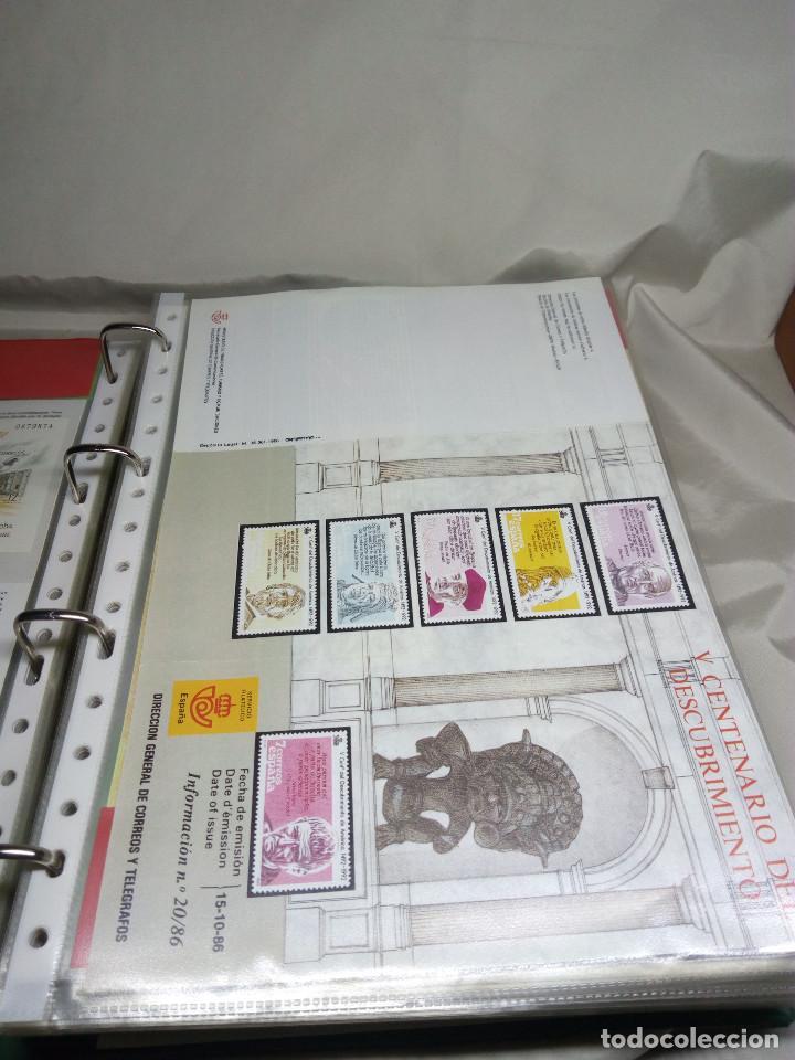 Sellos: COLECCIÓN DE 108 HOJAS INFORMATIVAS CON SELLOS ESPECIALES DE CORREOS (1986-1989) - Foto 11 - 130571654