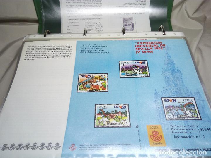 Sellos: COLECCIÓN DE 100 HOJAS INFORMATIVAS CON SELLOS ESPECIALES DE CORREOS (1990-1994) - Foto 3 - 130572062