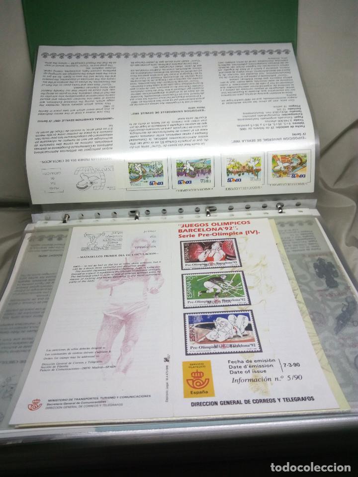 Sellos: COLECCIÓN DE 100 HOJAS INFORMATIVAS CON SELLOS ESPECIALES DE CORREOS (1990-1994) - Foto 4 - 130572062