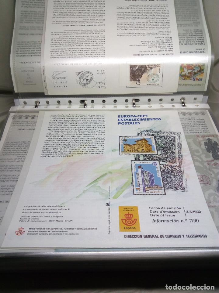 Sellos: COLECCIÓN DE 100 HOJAS INFORMATIVAS CON SELLOS ESPECIALES DE CORREOS (1990-1994) - Foto 5 - 130572062