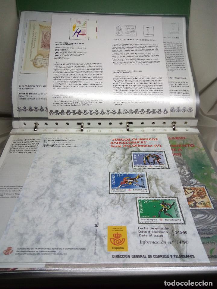 Sellos: COLECCIÓN DE 100 HOJAS INFORMATIVAS CON SELLOS ESPECIALES DE CORREOS (1990-1994) - Foto 7 - 130572062