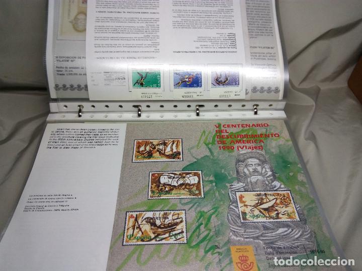 Sellos: COLECCIÓN DE 100 HOJAS INFORMATIVAS CON SELLOS ESPECIALES DE CORREOS (1990-1994) - Foto 8 - 130572062