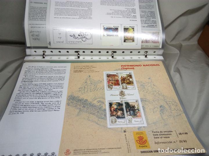 Sellos: COLECCIÓN DE 100 HOJAS INFORMATIVAS CON SELLOS ESPECIALES DE CORREOS (1990-1994) - Foto 9 - 130572062