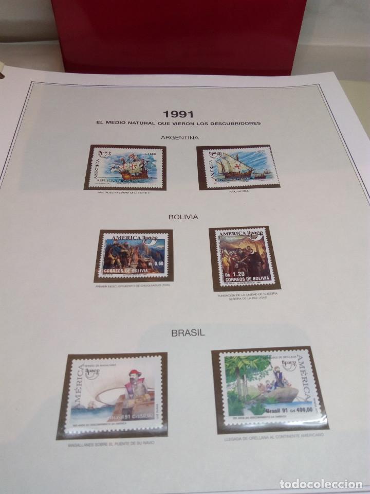 Sellos: COLECCIÓN AMÉRICA PRECOLOMBINA - SELLOS EFILCAR EN ÁLBUM PARDO Y LIBRITO EXPLICATIVO - Foto 13 - 130574014