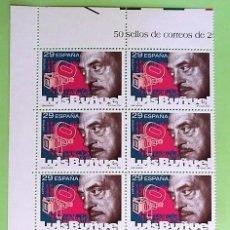 Sellos: ESPAÑA. 3277 CINE: LUIS BUÑUEL. 1994.BLOQUE DE 10 SERIES.SELLOS NUEVOS Y NUMERACIÓN EDIFIL.. Lote 148166188