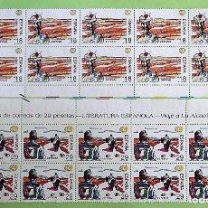 Sellos: ESPAÑA. 3303/04 LITERATURA: OBRAS DE CAMILO JOSÉ CELA. 1994.BLOQUE DE 10 SERIES.SELLOS NUEVOS Y NU. Lote 148166729