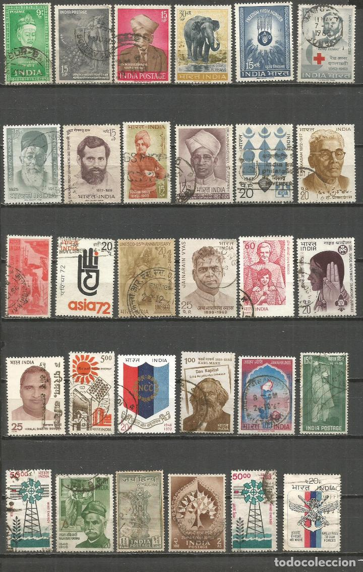 INDIA CONJUNTO DE SELLOS USADOS (Briefmarken - Sammlungen und Sets)
