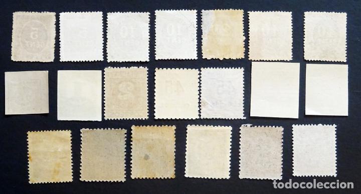 Sellos: Colección de 20 sellos de Cifras de España 1er Centenario,. Ver fotografías y comentarios. - Foto 2 - 132785346
