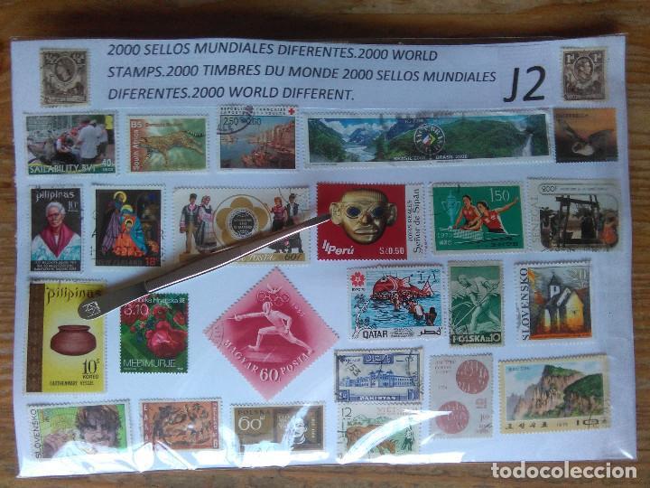 J2-LOTE COLECCION 2000 SELLOS DISTINTOS MUNDIALES,UNIVERSALES DIFERENTES ,SIN TASAR.2000 SELLOS DIST (Sellos - Colecciones y Lotes de Conjunto)