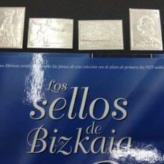 Sellos: 12 SELLOS DE BIZKAIA EN PLATA DE PRIMERA LEY 925 MM 700 ANIVERSARIO BILBAO PAIS VASCO. Lote 134604770
