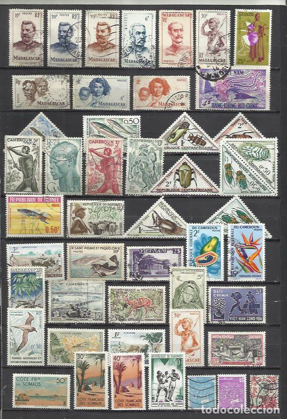 G480-LOTE SELLOS COLONIAS FRANCIA COLONIAS FRANCESAS EN AFRICA,ANTIGUAS DEPENDENCIAS DE FRANCIA EN A (Sellos - Colecciones y Lotes de Conjunto)