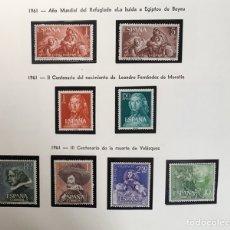 Sellos: AÑO 1961 COMPLETO. NUEVOS Y SIN FIJASELLOS.. Lote 136200897