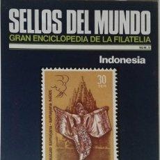 Sellos: SELLOS DEL MUNDO, GRAN ENCICLOPEDIA FILATELIA EDICIONES URBION- Nº 5 INDONESIA. Lote 136282270