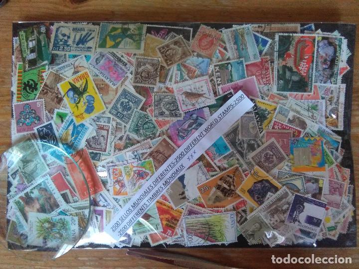 XXX-LOTE COLECCION 2500 SELLOS DISTINTOS MUNDIALES,UNIVERSALES DIFERENTES ,SIN TASAR.2500 SELLOS DIS (Sellos - Colecciones y Lotes de Conjunto)