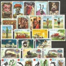 Briefmarken - LIBERIA CONJUNTO DE SELLOS MATASELLADOS DIFERENTES - 137368146