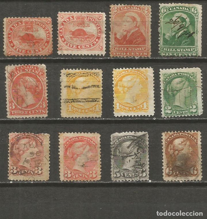 CANADA COLONIA BRITANICA CONJUNTO DE SELLOS USADOS (Sellos - Colecciones y Lotes de Conjunto)