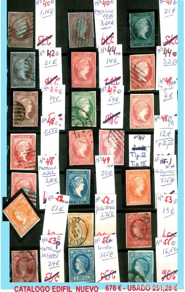 Sellos: CONJUNTO DE CLASICOS ESPAÑA 1850 A 1905,EN NUEVO Y USADO y DETALLE DE SUS 14 PÁGINAS. Catº.11.100 € - Foto 2 - 140738414