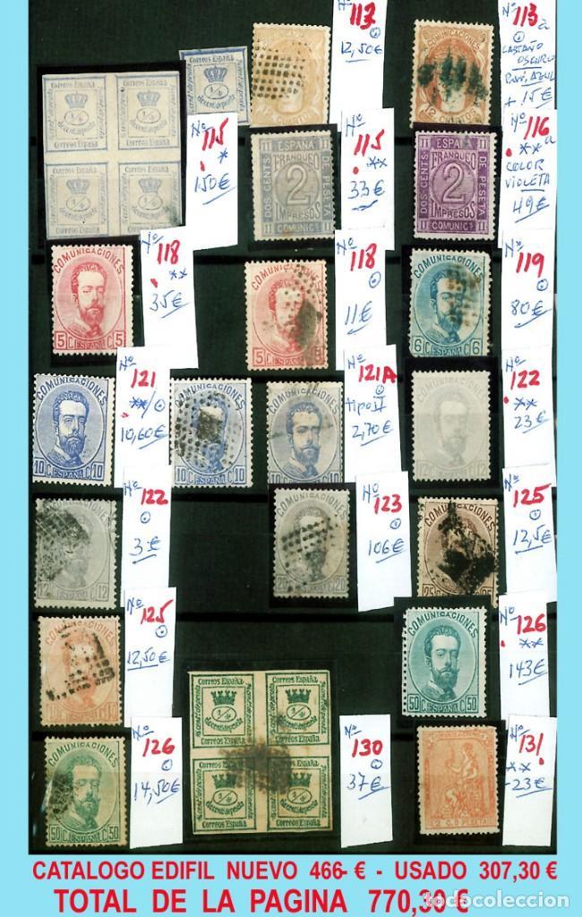 Sellos: CONJUNTO DE CLASICOS ESPAÑA 1850 A 1905,EN NUEVO Y USADO y DETALLE DE SUS 14 PÁGINAS. Catº.11.100 € - Foto 6 - 140738414