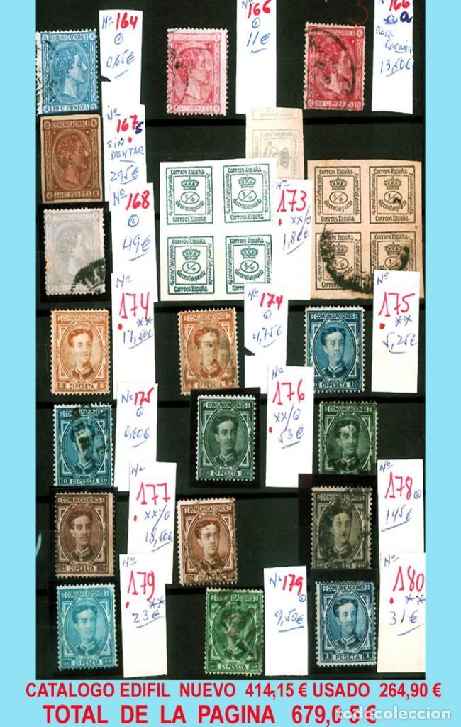 Sellos: CONJUNTO DE CLASICOS ESPAÑA 1850 A 1905,EN NUEVO Y USADO y DETALLE DE SUS 14 PÁGINAS. Catº.11.100 € - Foto 8 - 140738414