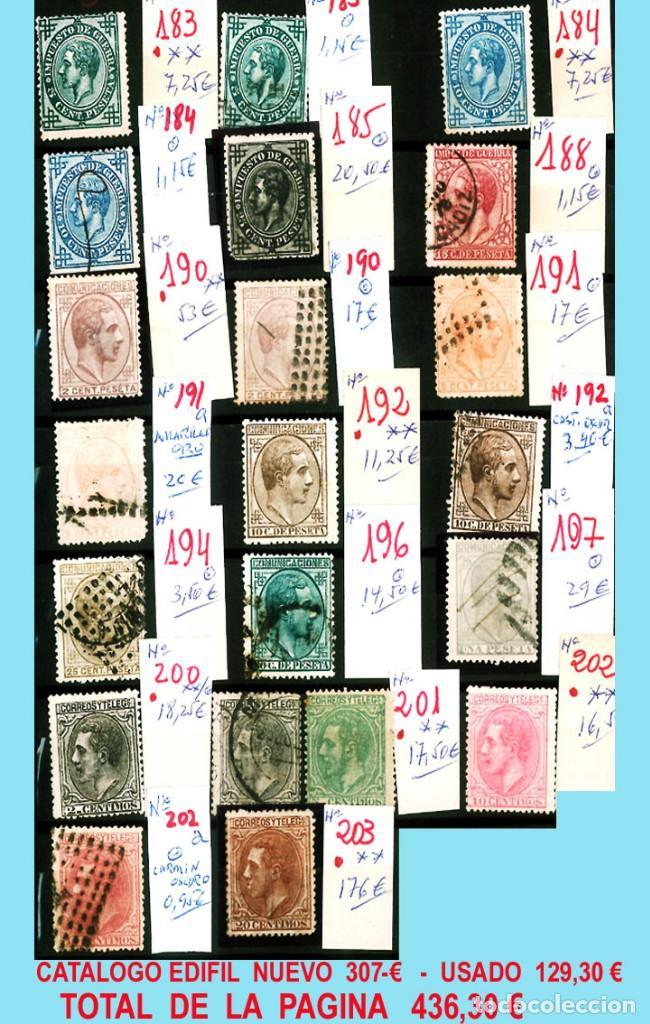 Sellos: CONJUNTO DE CLASICOS ESPAÑA 1850 A 1905,EN NUEVO Y USADO y DETALLE DE SUS 14 PÁGINAS. Catº.11.100 € - Foto 9 - 140738414
