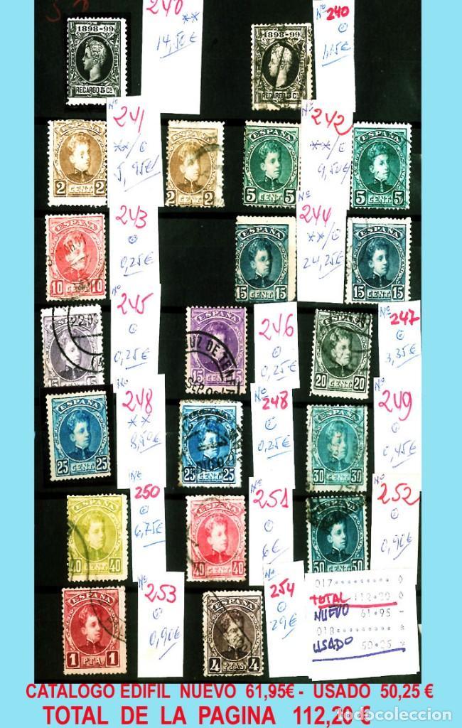 Sellos: CONJUNTO DE CLASICOS ESPAÑA 1850 A 1905,EN NUEVO Y USADO y DETALLE DE SUS 14 PÁGINAS. Catº.11.100 € - Foto 13 - 140738414