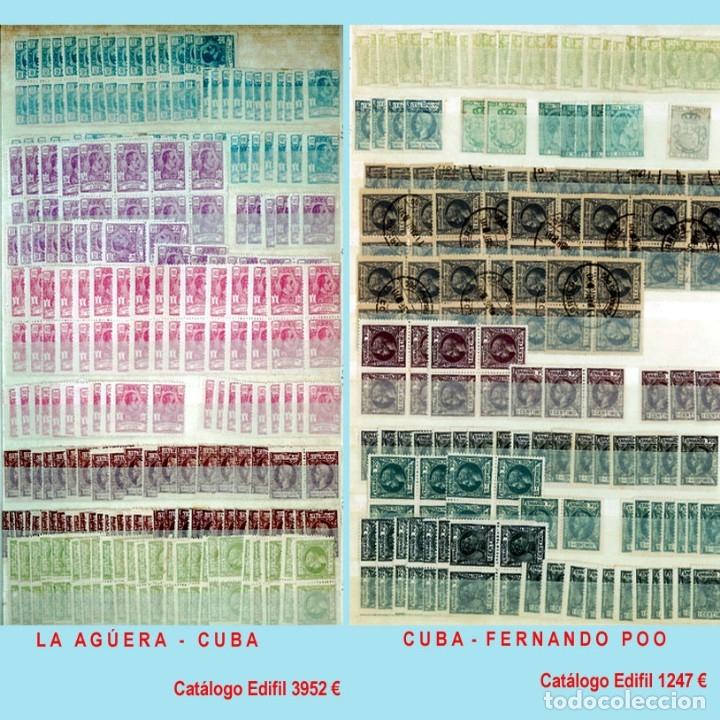 Sellos: GRAN CLASIFICADOR CON PEQUEÑO STOCK SELLOS y SERIES de EX-COLONIAS ESPAÑOLAS Nuevo-Usado.Catº+36.000 - Foto 3 - 140907726