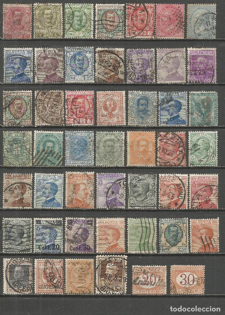 ITALIA CONJUNTO DE SELLOS USADOS ANTIGUOS (Sellos - Colecciones y Lotes de Conjunto)