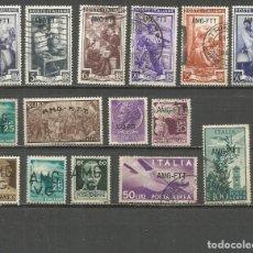 Sellos: TRIESTRE ITALIA CONJUNTO DE SELLOS USADOS. Lote 141942990