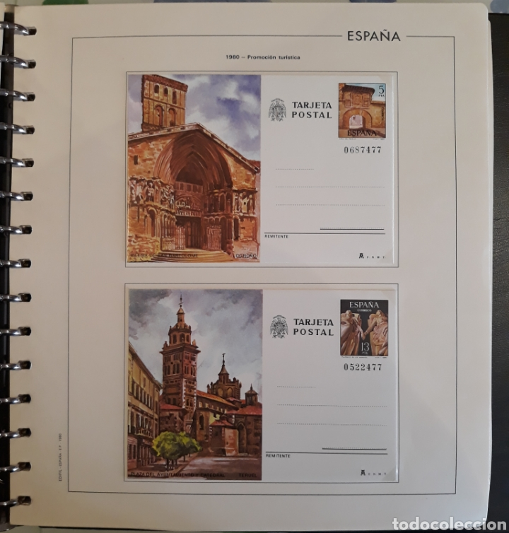 Sellos: Albun tarjetas entero postal 69 tarjetas + album - Foto 14 - 147172709