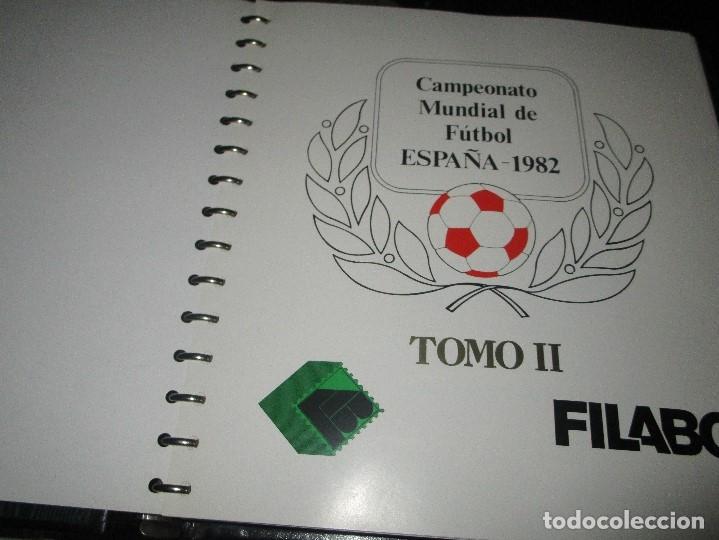 Sellos: 3 tomos ALBUM SELLOS completo MUNDIAL FUTBOL 82 TOMO 1 .2 Y 3 COMPLETO FILABO BUENA CONSERVACION - Foto 4 - 134025674