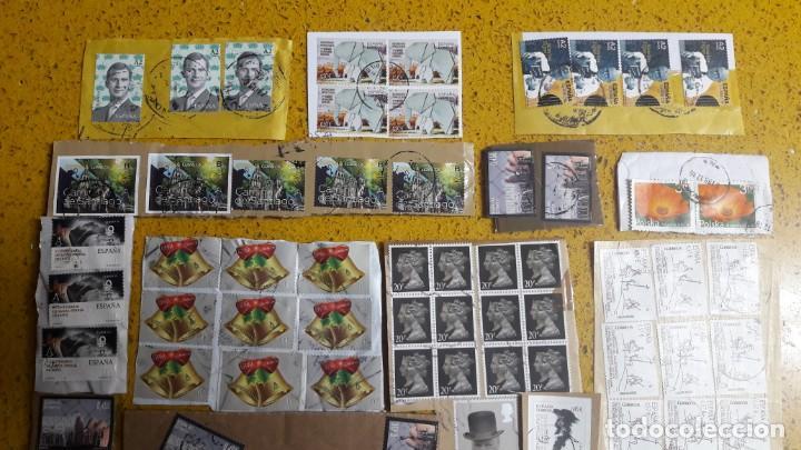 Sellos: sello,s varios , lote,s , usados , matasellados , españoles y estranjeros ... - Foto 2 - 151225642