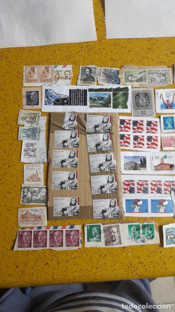 Sellos: sello,s varios , lote,s , usados , matasellados , españoles y estranjeros ... - Foto 2 - 151233026