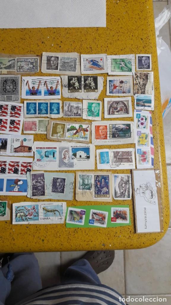 Sellos: sello,s varios , lote,s , usados , matasellados , españoles y estranjeros ... - Foto 3 - 151233026