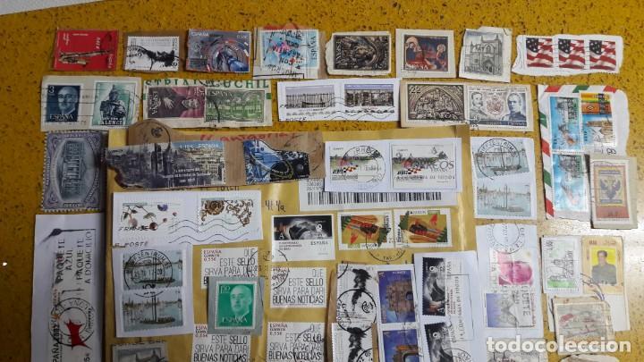 Sellos: sello,s varios , lote,s , usados , matasellados , españoles y estranjeros ... - Foto 2 - 151233222