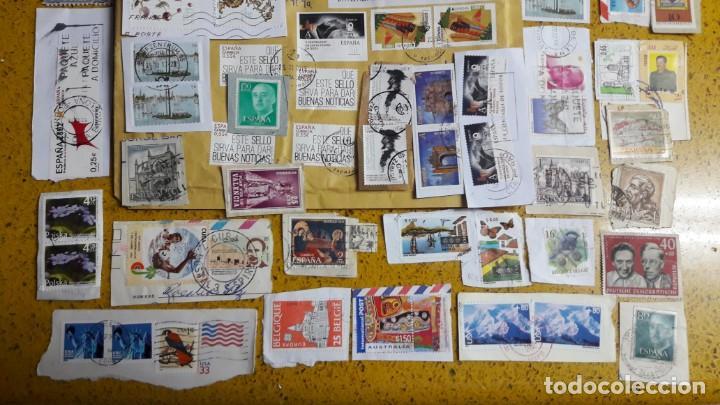 Sellos: sello,s varios , lote,s , usados , matasellados , españoles y estranjeros ... - Foto 3 - 151233222