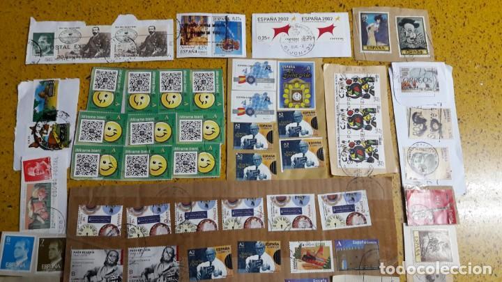 Sellos: sello,s varios , lote,s , usados , matasellados , españoles y estranjeros ... - Foto 2 - 151234790