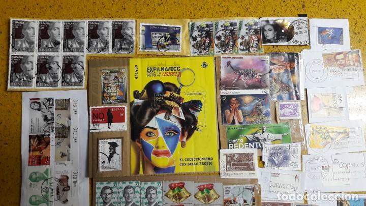 Sellos: sello,s varios , lote,s , usados , matasellados , españoles y estranjeros ... - Foto 2 - 151235066