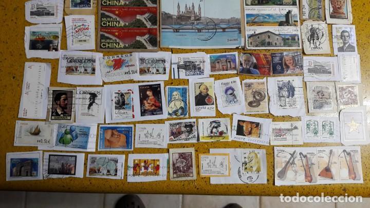 Sellos: sello,s varios , lote,s , usados , matasellados , españoles y estranjeros ... - Foto 3 - 151235266