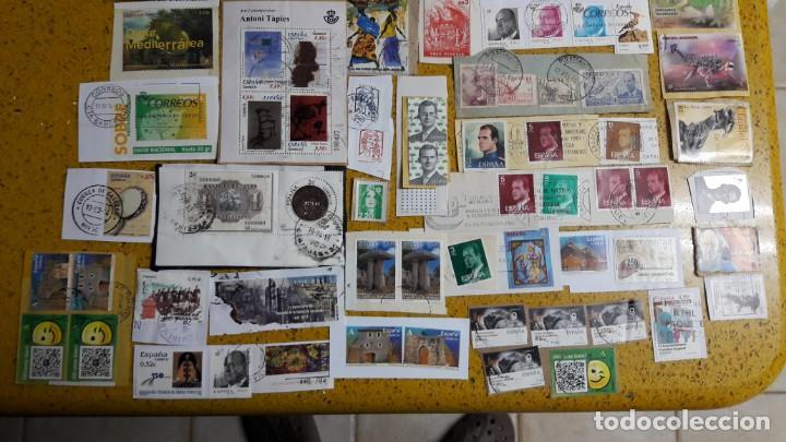 Sellos: sello,s varios , lote,s , usados , matasellados , españoles y estranjeros ... - Foto 3 - 151235446
