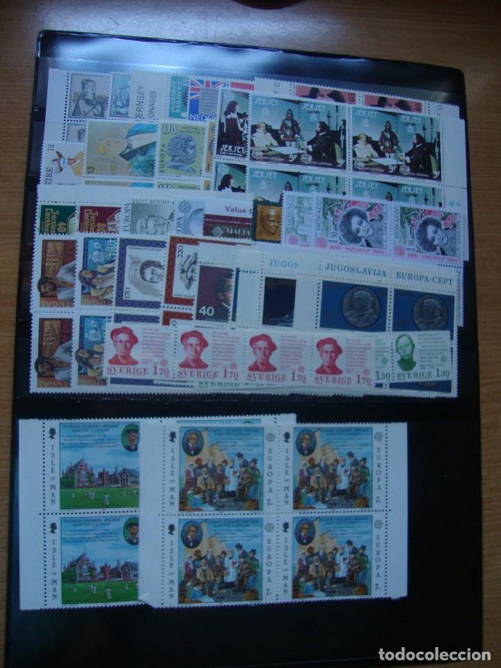 TEM EUROPA AÑO 1980 BLOQUE DE 4 Y MAS VER FOTOS Y DESCRIPCION (Sellos - Colecciones y Lotes de Conjunto)